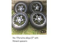 """Vw/Porsche alloys 17"""""""