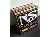 50 hip-hop records collection - Nas Gang Starr Dilated Big L Ghostface etc rap vinyl job lot