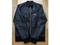 River Island Leather Look Jacket - Medium – Black