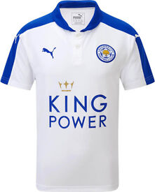 BNWT - Mens Leicester City 3rd Away white CHAMPIONS 2015/2016 Football Shirt - Medium - #5