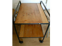 Vintage Wood Kitchen Trolley - Needs to go!