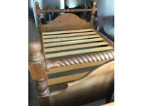 Solid Wooden Bed Frame (Double Bed)