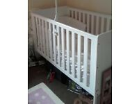 white cot bed used twice