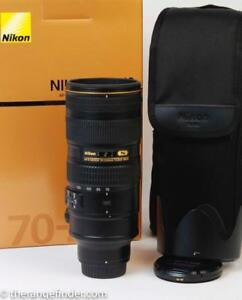Nikon 70-200mm f2.8G ED VR II Box/Recu