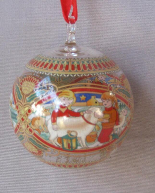 Hutschenreuther Scotland Christmas Crystal Ball Ornament Germany 2007