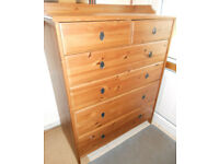 Solid Pine Chest of Six Drawers