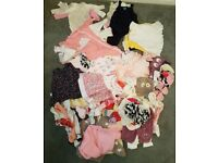 0-3 Month Girls Baby Clothes Bundle EXCELLENT CONDITION £35