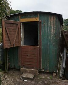 Shepherds Hut as a renovation project