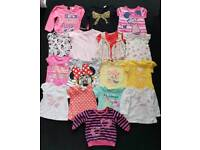 Baby girl tops bundle 6-9 months