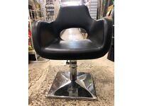 Black Leather Salon Chair (4 available)