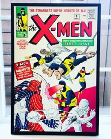 VERY RARE X-Men #1 Signed by Stan Lee Boxed Canvas 1