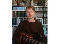 Professional bass & guitar teacher - lessons in all styles of guitar & bass, theory & improvisation