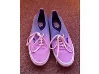 'Vans' multicoloured canvas shoes
