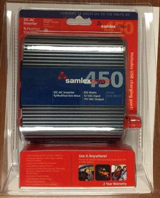 New Samlex America 450 Watts/12 Volt DC/115 VAC Inverter w/Modified Sine Wave