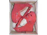 Dorothy Perkins Coral Wedges - BRAND NEW IN BOX