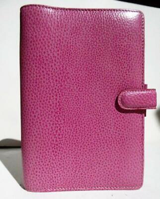 Filofax Finsbury 7-12 X 5 Pink Pebbled Leather Personel Organize