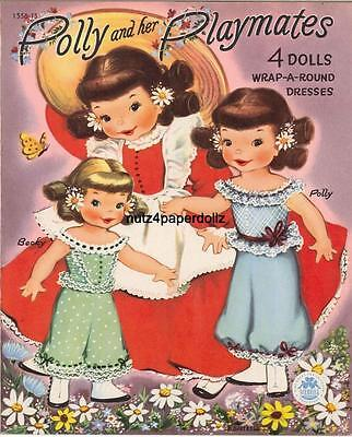 VINTGE 1951 POLLY PLAYMATES PAPER DOLL ~SWEET~MERRILL LASER REPRO~ORG SIZE UNCUT