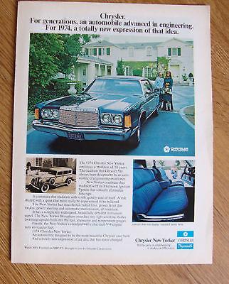 1974 Chrysler New Yorker Ad
