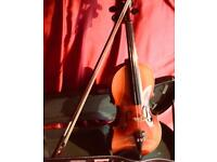 Full Size Violin, Bow and Hard Case. Totally ready to play