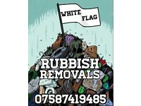 White Flag Rubbish Removals, Skip Hire and Guaranteed Best Prices. No job too big or small.