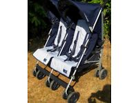 Maclaren Twin Traveller Double Stroller / Pushchair . In very good clean condition