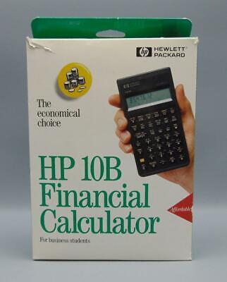 Hp 10b Businessfinancial Calculator W Box Manual Software