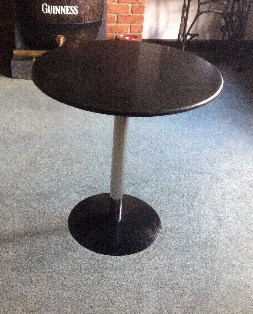Marble Top Pub / Bar / Cafe Table On Chrome Column | in Wakefield ...