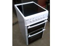 Beko DVC563 Fan Assisted 500mm Electric Double Oven Cooker With Ceramic Hob