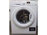 HOTPOINT WASHING MACHINE - LARGE 8KG LOAD - 1200 SPIN - WHITE - A+ ENERGY