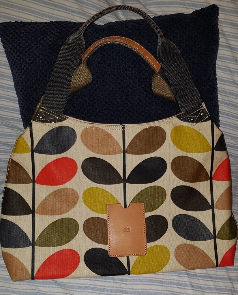 6acec29b8cd Unused Orla Kiely Etc Classic Multi Stem Shoulder Bag