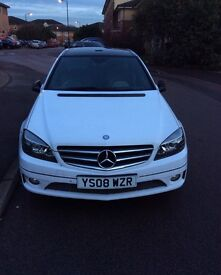 Mercedes Benz White Auto Compressor CLC 180 Panoramic roof
