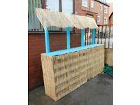 Outdoor Wooden Tiki Bar