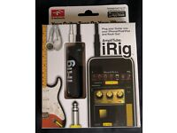 IiRig guitar interface, iPhone, iPad, iPod touch