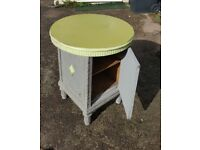 UNUSUAL LAMP TABLE WITH CUPBOARD