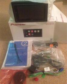 NEW PIONEER SPH-DA120 CarPlay Double Din Head Unit, with all accessories + handbrake emulator cable