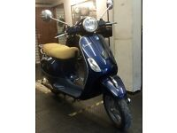 VESPA LX50 - 2012 - 6840 miles - Royal Blue - recent MOT - with bike accessories