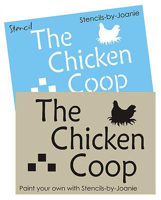 Country Kitchen Stencil Chicken Coop Rooster Primitive Farm Market Home Art Sign