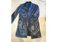 Jacke trance genuine leather black