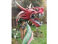 5 foot tall decrotive dragon