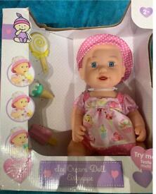 Ice cream doll Brand new unopened unwanted gift