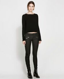 ZARA WOMAN Black Coated Slim/Skinny Jeans - UK 10