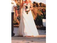 Serenity size 12 strapless wedding dress, worn once, as New