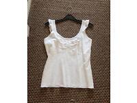 Pretty Per Una white vest size 12