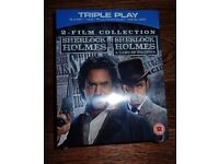 BluRay Terminator Genesis and Sherlock Holmes (2 film collection)