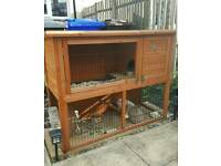 Double Rabbit hutch & Cover