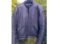 Dainese Black Leather Jacket. Size EU 54 UK 44. Bargain at £85.00