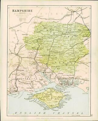 c1883 COUNTY OF HAMPSHIRE MAP By George Philip (PC13)
