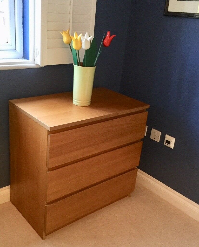IKEA Malm 3-drawer chest, very good condition