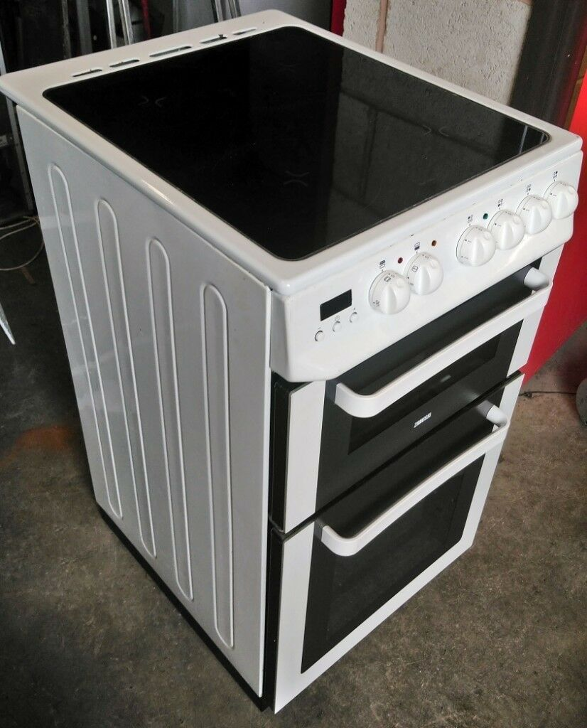 Zanussi ZCV563DW 500mm Fan Assisted Electric Double Oven Cooker With  Ceramic Hob | in Old Whittington, Derbyshire | Gumtree