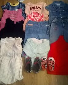 Bundle of GIRL'S clothes and shoes, 1-2yeals old, immaculate condition